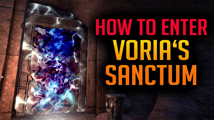 enter vorias sanctum unhallowed grave dungeon eso