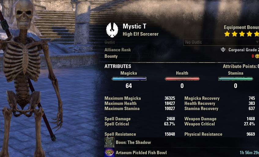 Magicka Sorcerer pve dps build pets META unbuffed stats ESO