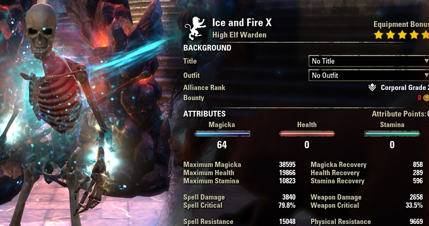 Magicka Warden pve dps build META buffed stats ESO
