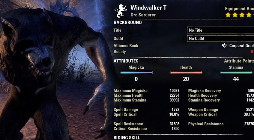 Solo Werewolf Heavy Armor Health Recovery Build ESO
