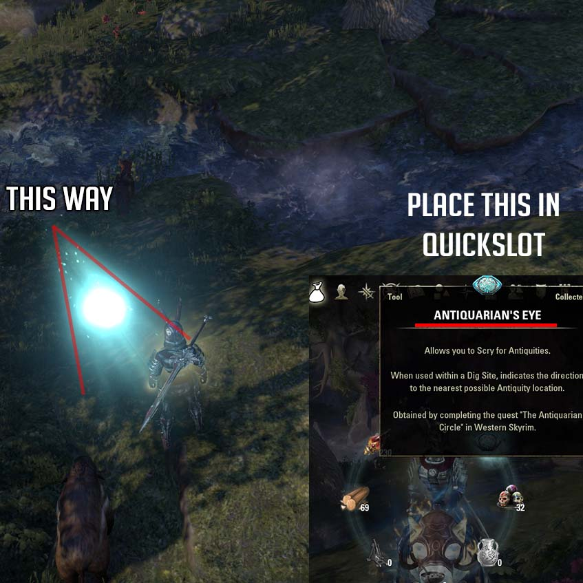 Antiquarians Eye How to use it Arrow ESO