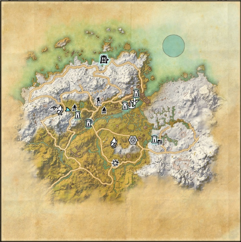 Western Skyrim map ESO Elder Scrolls Online