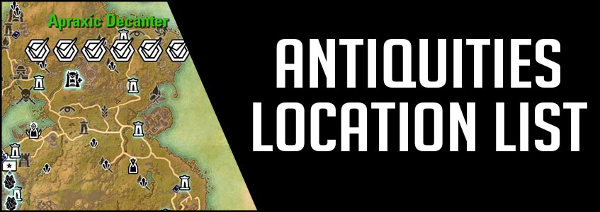 Antiquities Location List ESO