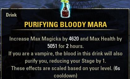 Purifying Bloody Mara Drink buff food ESO