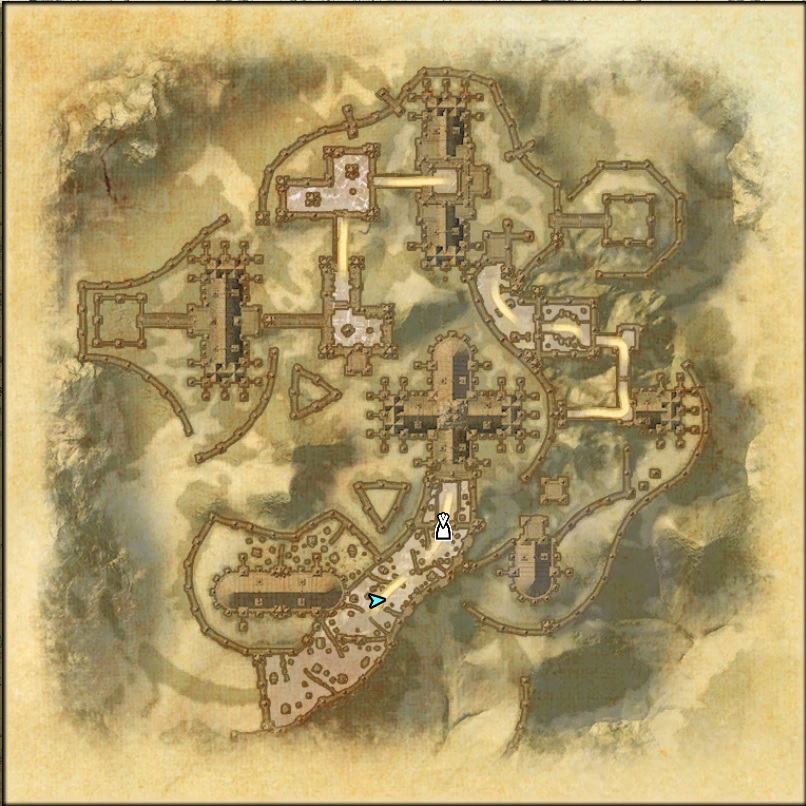 Castle Thorn Dungeon Map 1 ESO