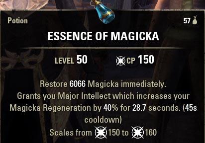 Essence of Magicka Potion new ESO