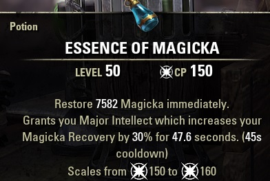 Essence of Magicka MAG Potion