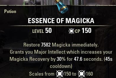 Essence of Magicka MAG Potion