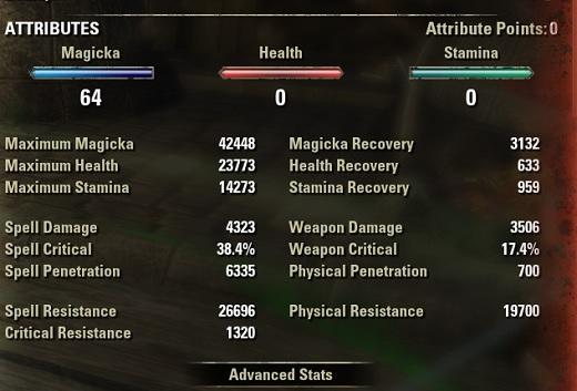 Nightblade Healer Build buffed stats ESO30