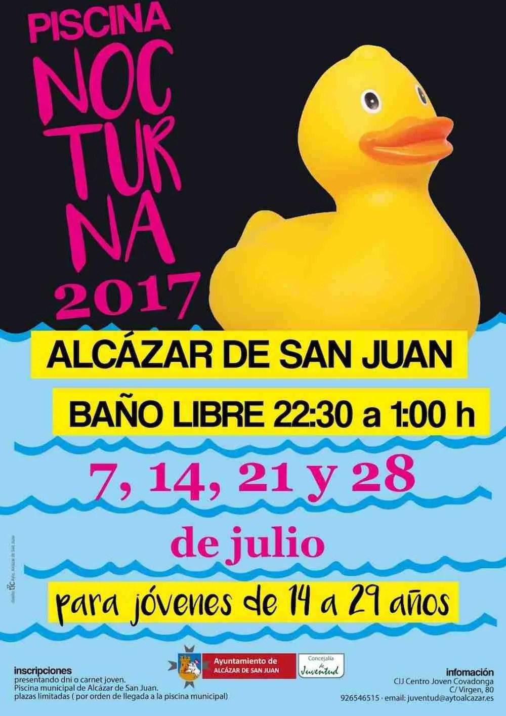 Piscina Nocturna 2017 con bao libre y actividades