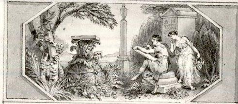 Edward Francis Burney (1760-1848), Calímaco inventa el capitel corintio