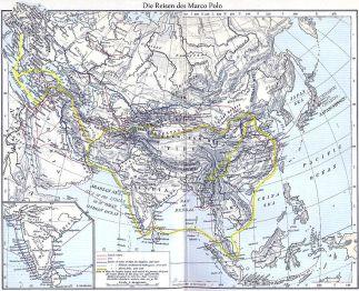 Ruta de Marco Polo según Maximilian Dörrbecker