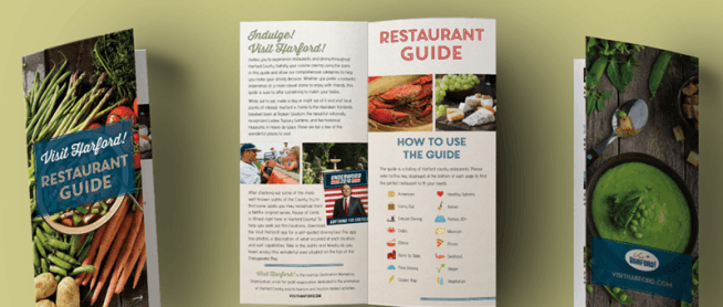 Award Winning Design for Restaurant Guide