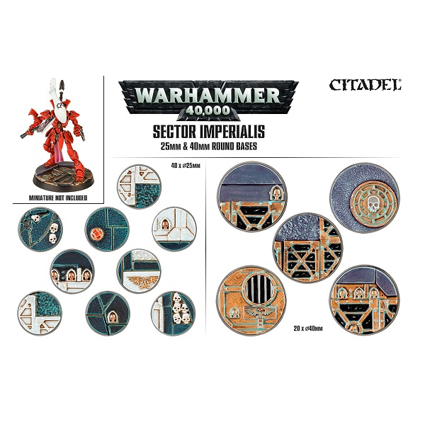 Sector Imperialis 25 & 40mm Round Bases