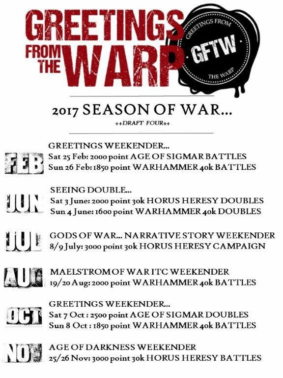 Greetings From the Warp Season of War