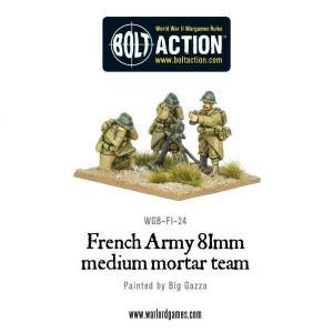 French Army 81mm medium mortar team
