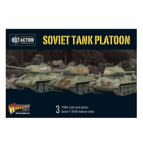 Soviet tank platoon T34 / 85