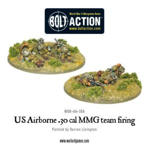 US Airborne 30 Cal MMG team