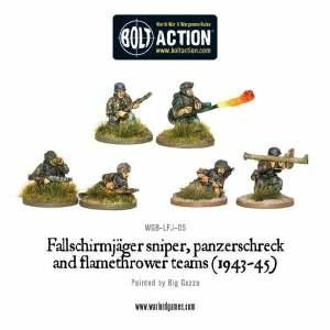 Fallschirmjager sniper, panzerschreck and flamethrower teams (1943-45)