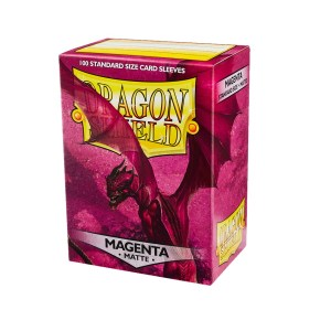 Dragon Shield Sleeves Matte Magenta 100