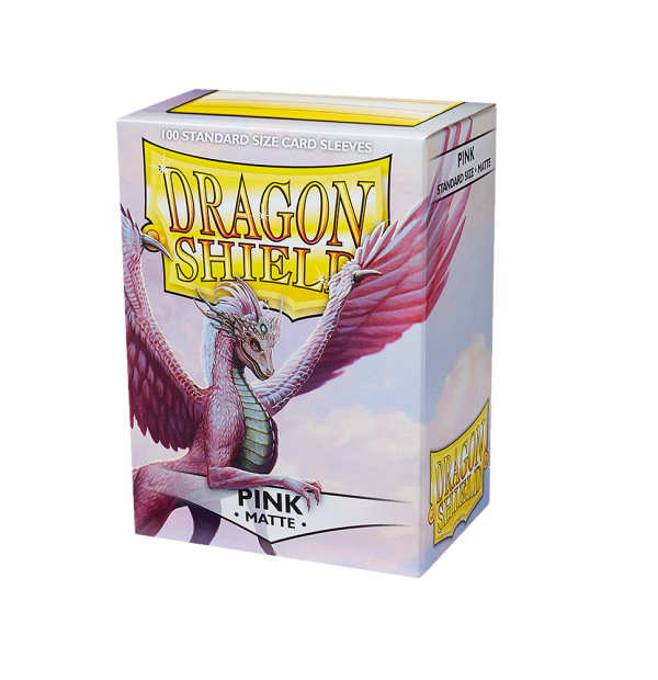 Dragon Shield Sleeves Matte Pink 100