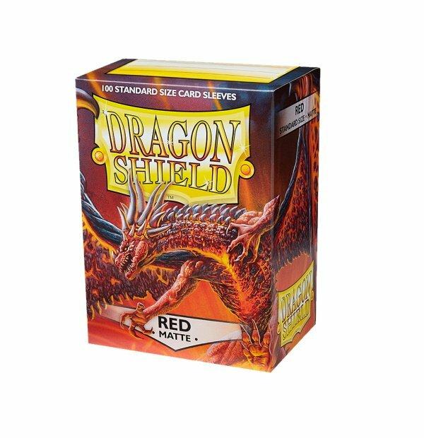Dragon Shield Sleeves Matte Red 100
