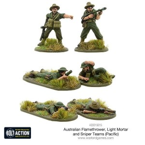 Australian flamethrower, light mortar and sniper teams (Pacific)