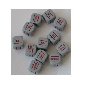 Grey with Red Order Dice