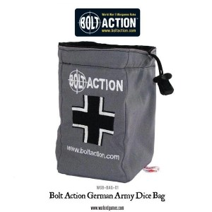 Bolt Action German Army Dice Bag and Order Dice