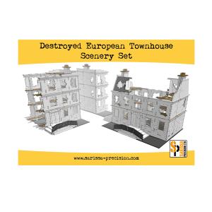 Destroyed European Townhouse Scenery Set