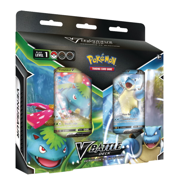 Pokémon Trading Card Game: Blastoise V & Venusaur V Battle Deck Bundle
