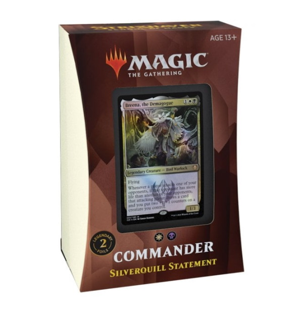 Magic the Gathering: Strixhaven: School of Mages Silverquill Statement Commander Deck