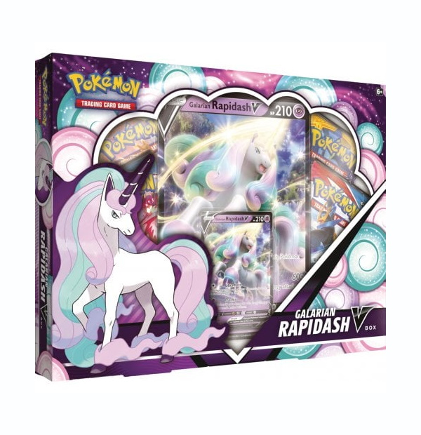 Pokémon Trading Card Game: Galarian Rapidash V Collection Box