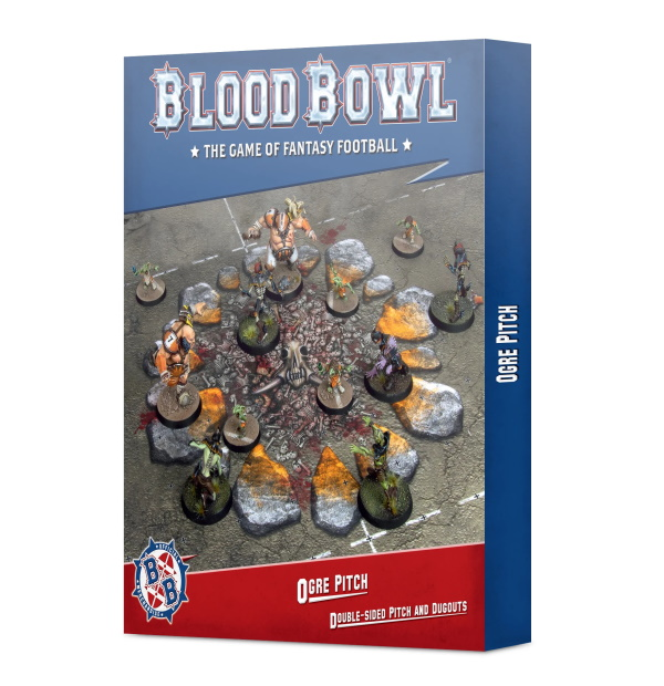 Blood Bowl Ogre Pitch: Double-sided Pitch and Dugouts
