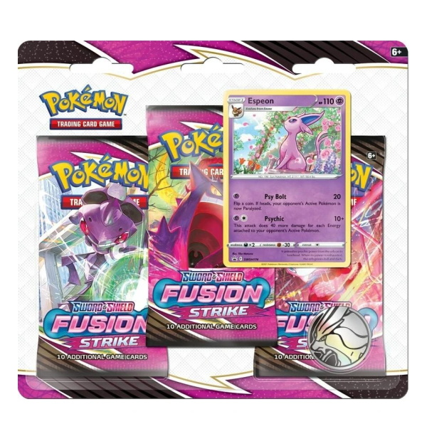 Pokémon Trading Card Game: Sword and Shield - Fusion Strike 3 Pack Blister Espeon