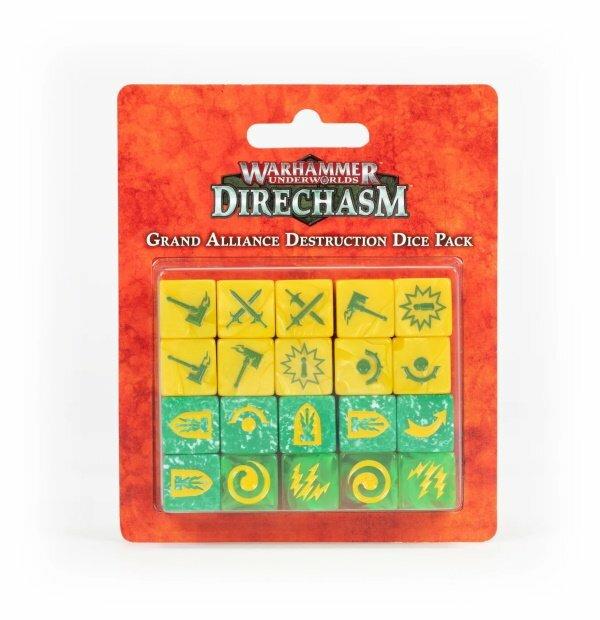 Warhammer Underworlds: Direchasm Grand Alliance Destruction Dice Pack