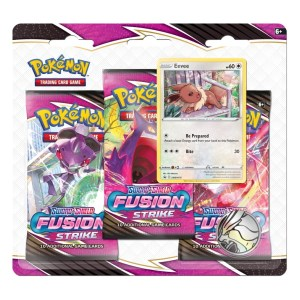 Pokémon Trading Card Game: Sword and Shield - Fusion Strike 3 Pack Blister Eevee