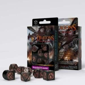 Dragons Modern Dice Set Black & Copper (7)