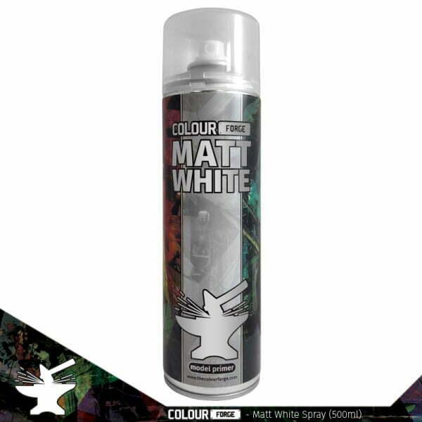 Colour Forge Matt White Spray (500ml)