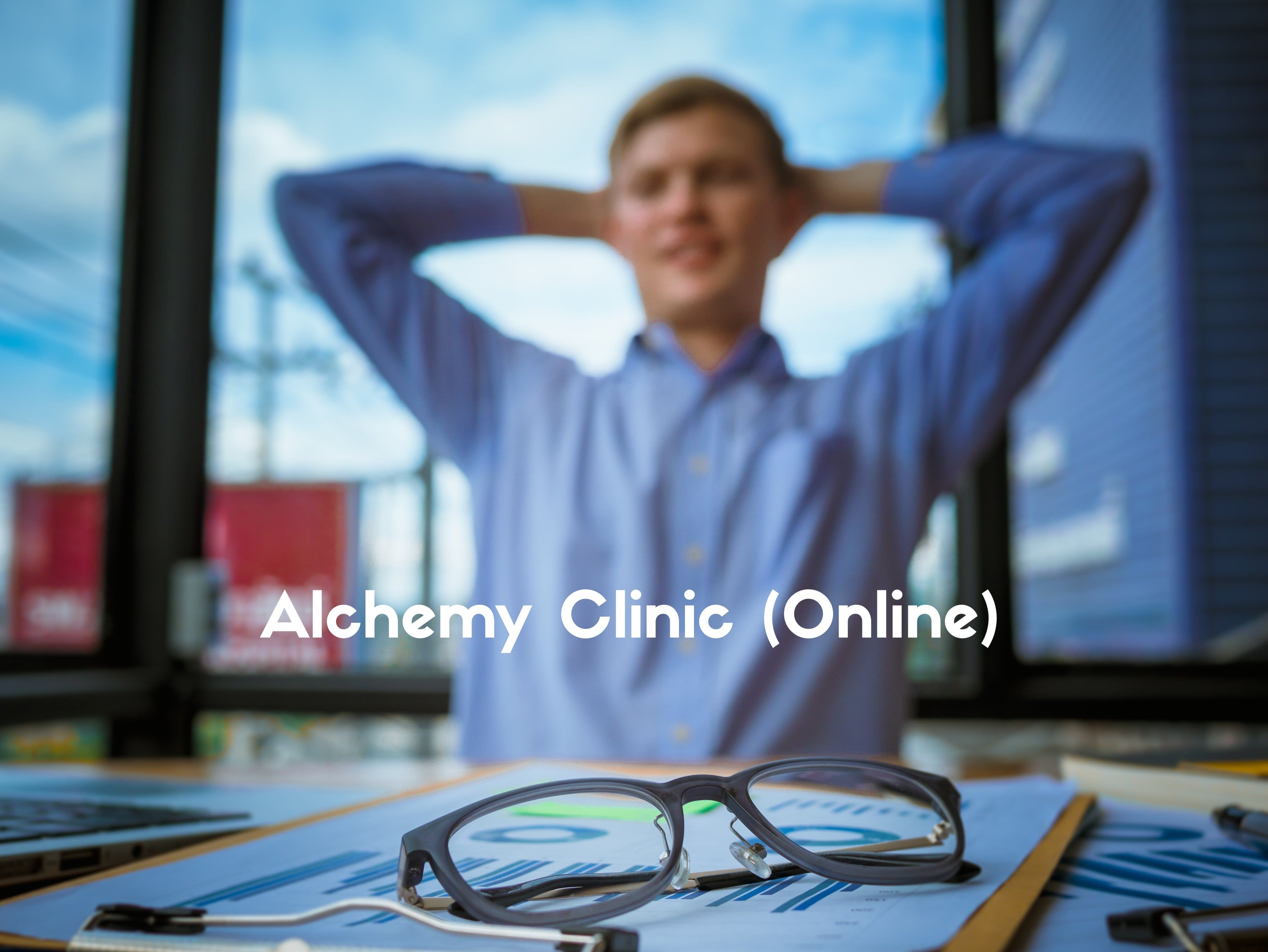 This is a picture of a man who is calm and relaxed after an online session with Alchemy Hypnotherapy.