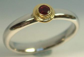 Ruby set in 18ct Gold