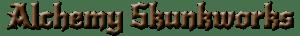 Alchemy skunkworks text logo