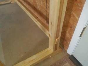 Pine Workbench - Leg Tenons