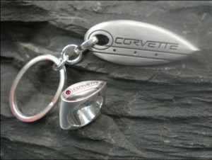 Corvette key chain and ring