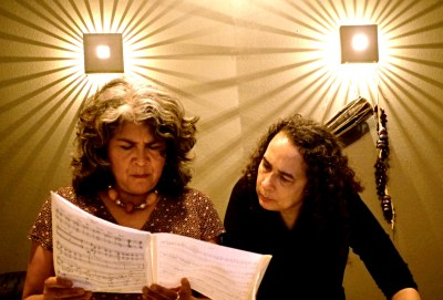 Sumi and Erica discuss a new composition
