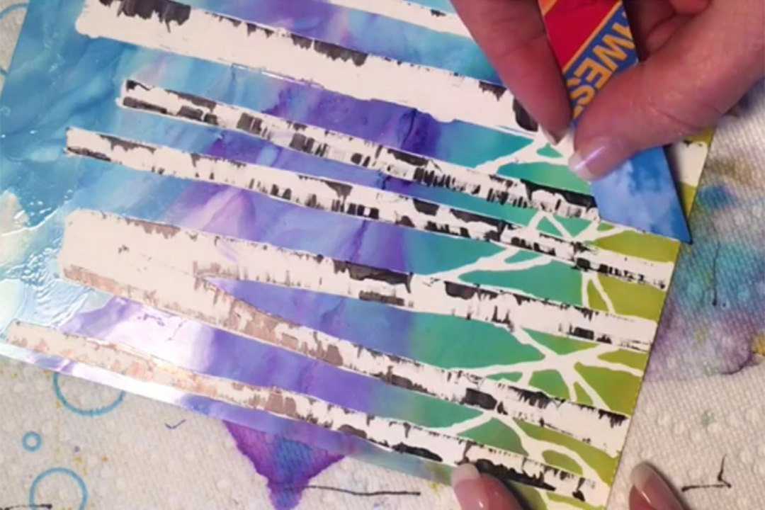 Creating Birch Trees Using Masking Pen