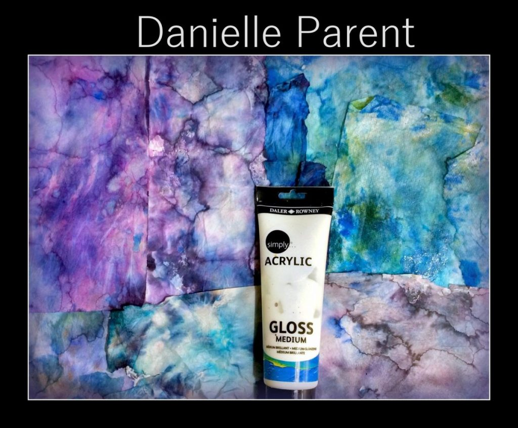That is the gel medium I use to glue each piece of paper and covered the layers of the painting with the trees and grass blades with.   You can buy this ad your local  Walmart or craft store.