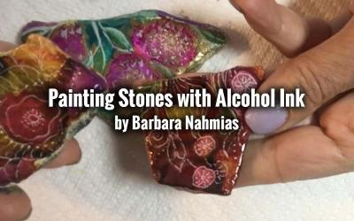Painting Stones with Alcohol Ink