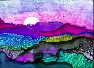 Moonrise Over Happy Valley by Barbara Nahmias