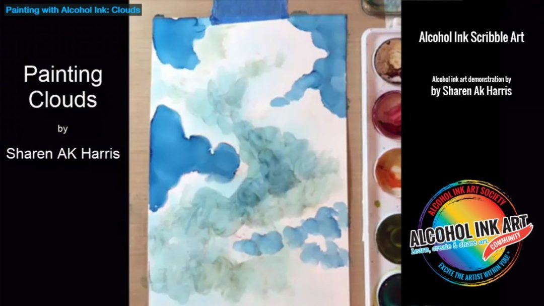 Painting with Alcohol Ink: Clouds